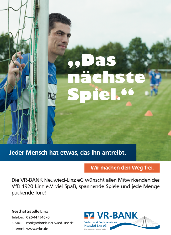 Sponsor VR Bank Neuwied-Linz eG