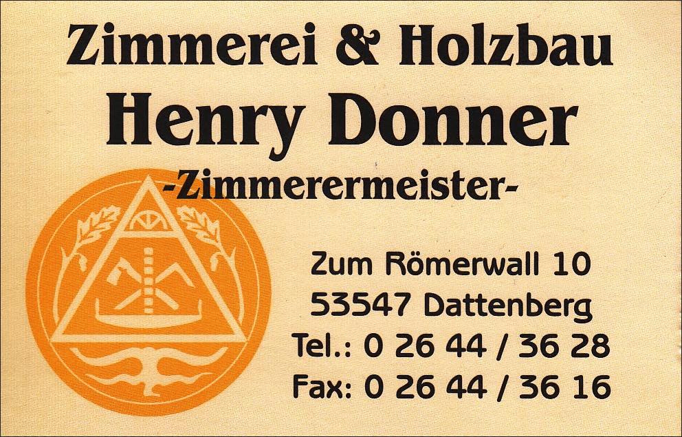 Sponsor Henry Donner
