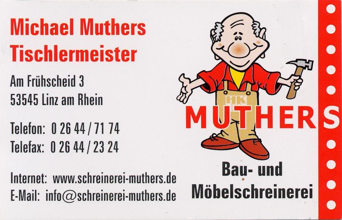 Sponsor Schreinerei Muthers