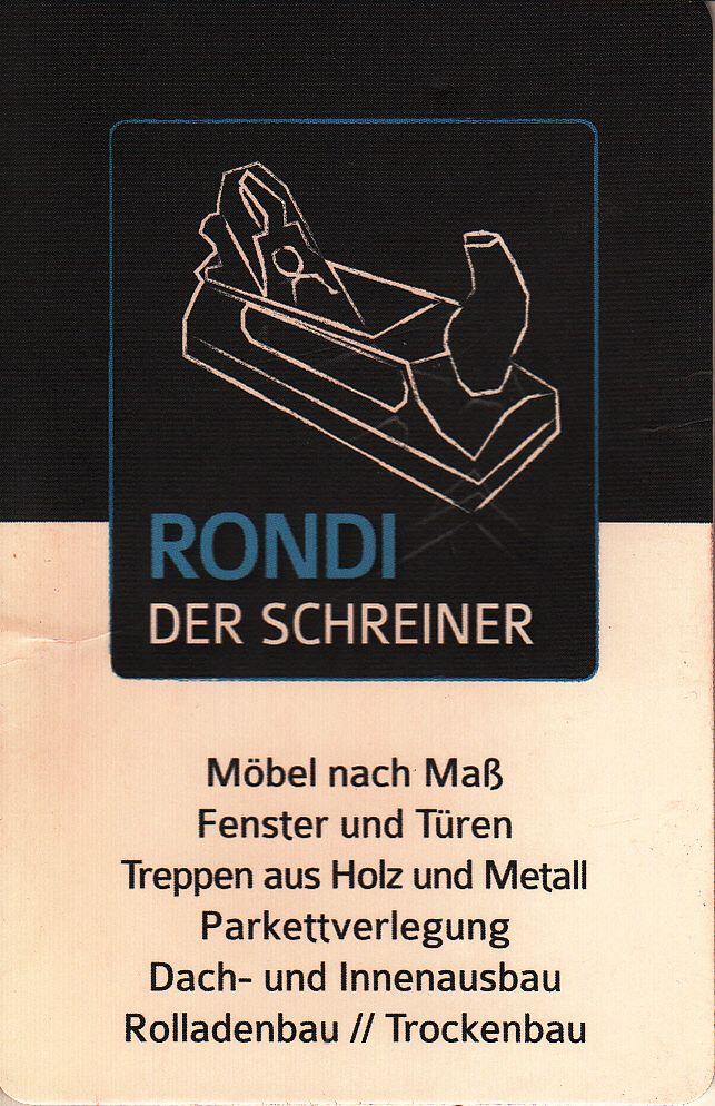 Sponsor Schreinerei Rondi