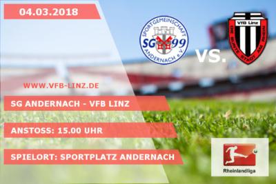 Spieltagplakat - SG Andernach - VfB Linz