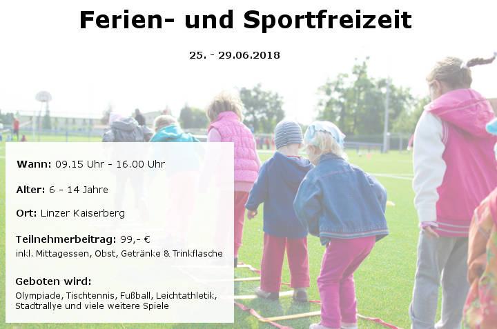 Ferien- und Sportfreizeit Sommer 2018