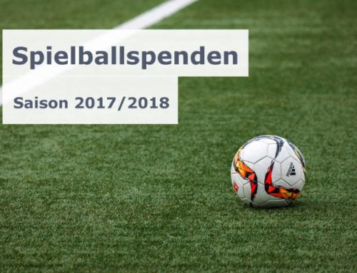Spielballspenden in der Saison 2017/2018