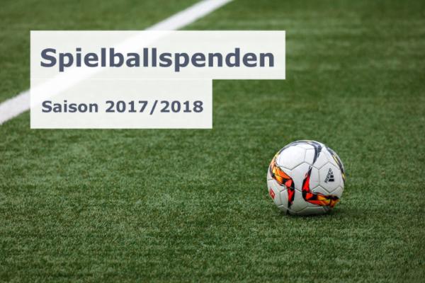 Spielballspenden - Saison 2017/2018
