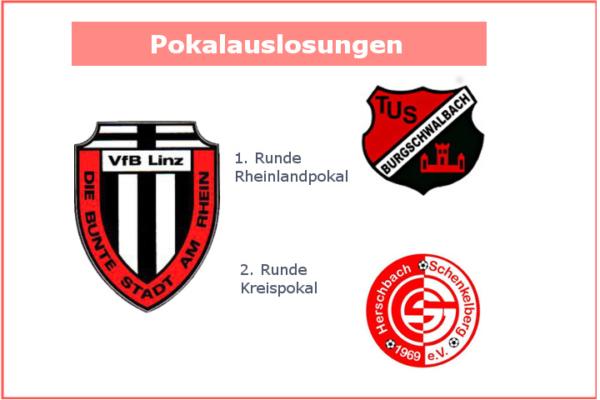 Auslosungen der 1. Rheinland- und 2. Kreispokalrunde 2018/2019