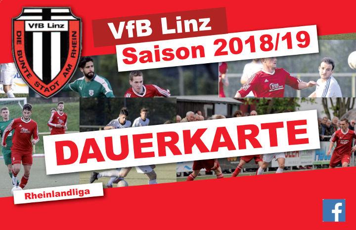 VfB Linz Dauerkarte Rheinlandliga Saison 2018/2019