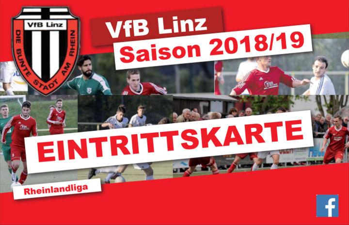 VfB Linz Eintrittskarte Rheinlandliga Saison 2018/2019