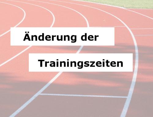 Neue Trainingszeiten bei den Leichtathleten
