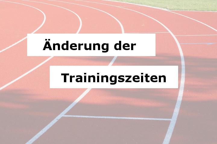 Änderung der Leichtathletik Trainingszeiten