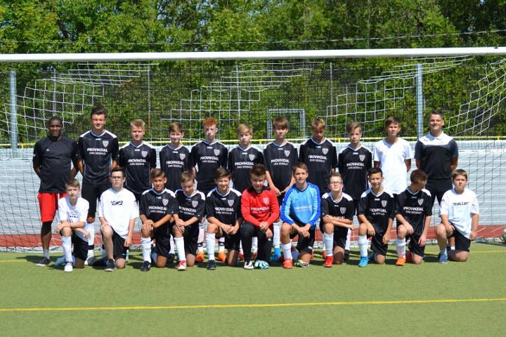 Mannschaftsfoto der C-Junioren der JSG Linz/Rheinbrohl/Erpel in der Saison 2018/2019