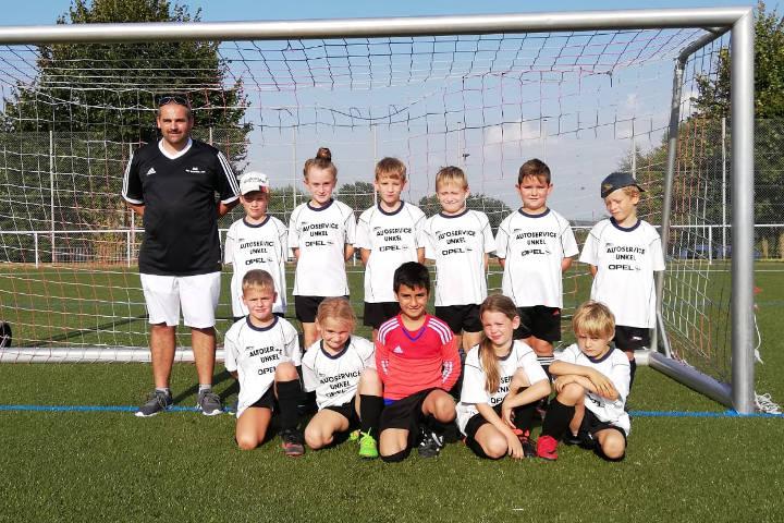 Mannschaftsfoto der F2-Junioren des VfB Linz - Saison 2018/2019