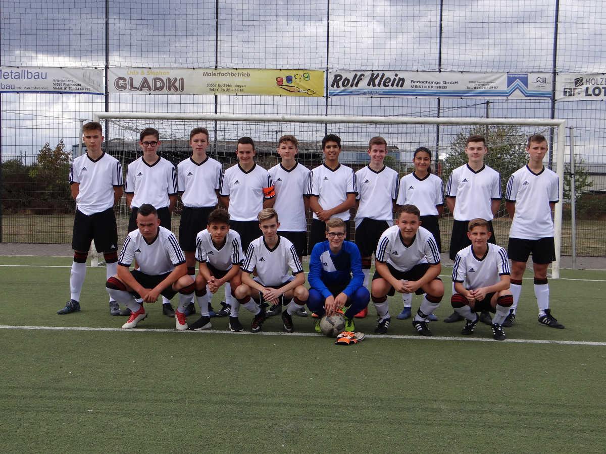 Mannschaftsfoto der B-Junioren der JSG Rheinbrohl/Linz/Erpel in der Saison 2018/2019