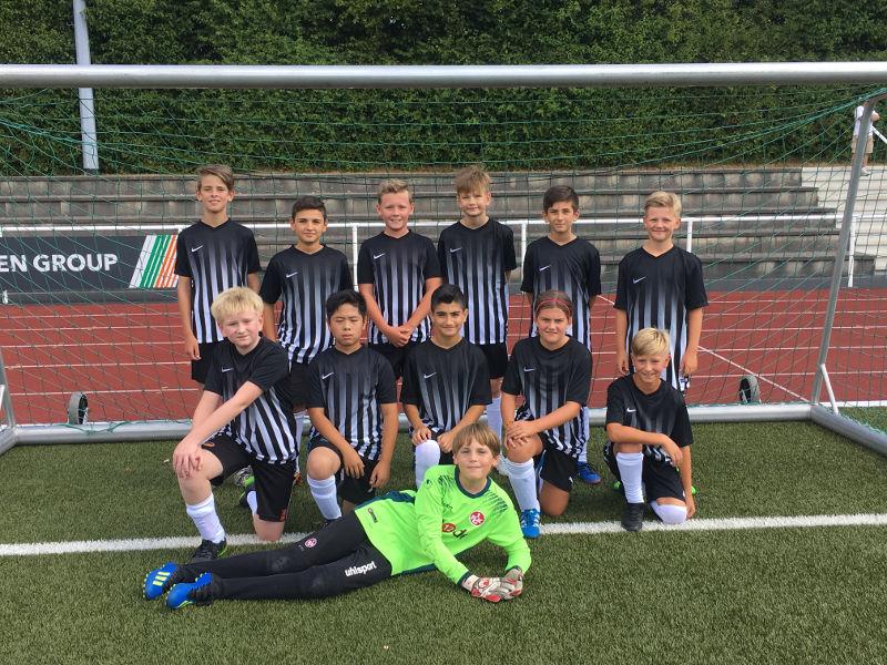 Mannschaftsfoto der D2-Junioren der JSG Rheinbrohl/Linz in der Saison 2018/2019