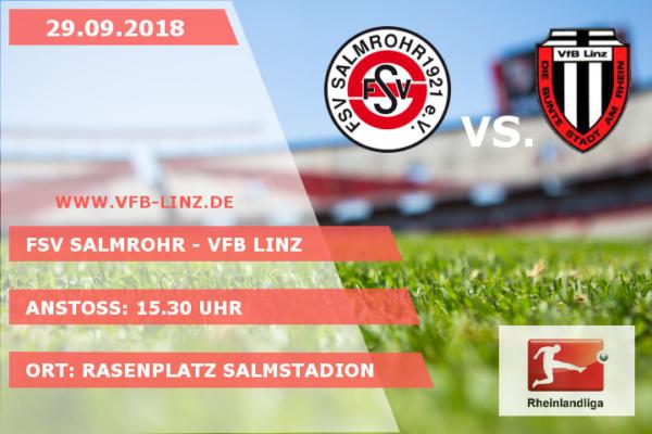Spieltagplakat: FSV Salmrohr - VfB Linz