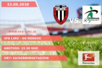 Spieltagplakat: VfB Linz - SG Mendig