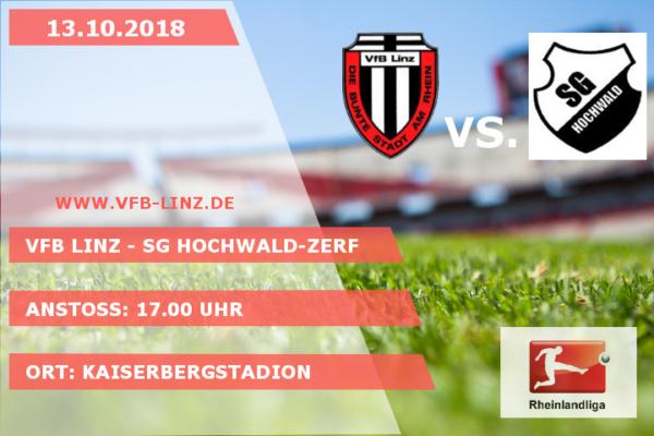 Spieltagplakat: VfB Linz - SG Hochwald-Zerf