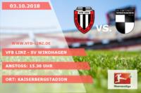Spieltagplakat: VfB Linz - SV Windhagen