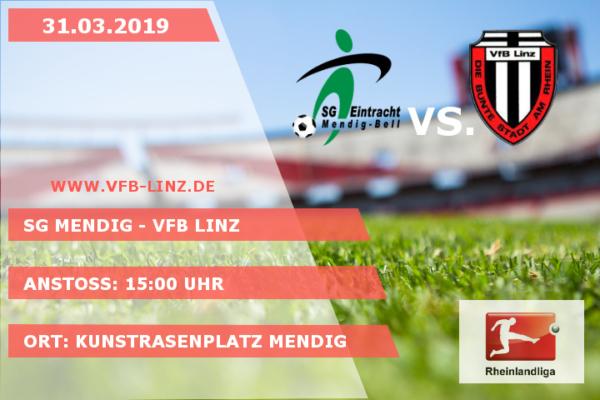 Spieltagplakat SG Mendig - VfB Linz