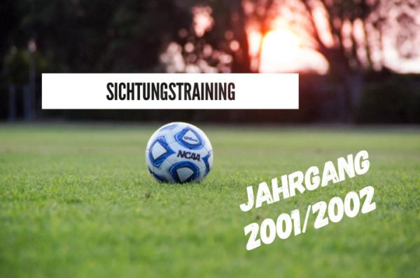 Sichtungstraining der JSG Linz/Rheinbrohl/Erpel - Jahrgang 2001/2002