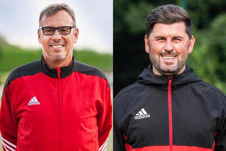Das Trainerteam der 1. Mannschaft des VfB Linz in der Saison 2018/2019