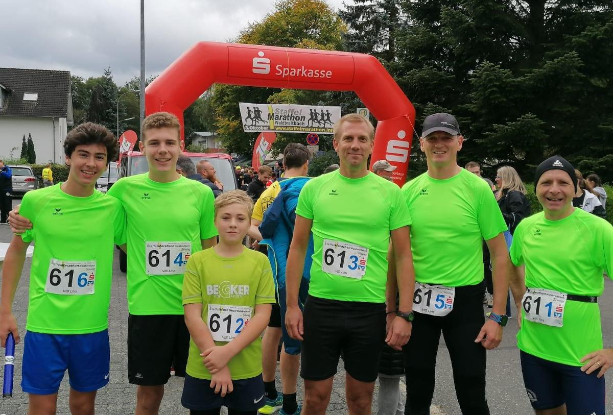 Die Leichtathletikstaffel beim Waldbreitbach Marathon